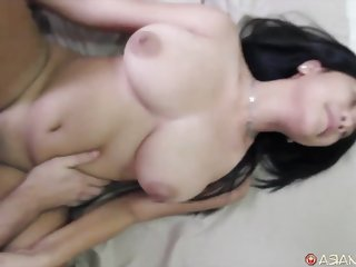 Chubby Asian gets fucked deep and hard