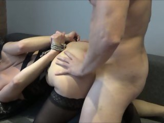 Beautiful Slave Has Two Squirting Cum During Brutal Hard Fuck